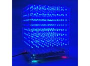 3D 8X8X8 LED Music MP3 DIY Kit w/3mm Perspex Case (UK Warehouse)