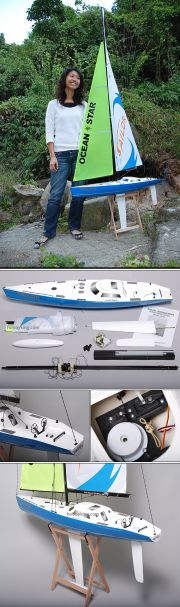 RC Ocean Going Racing Yacht 2.2m (UK Warehouse)