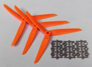 Hobbyking&#8482 3-Blade Propeller 7x3.5 Orange (CCW) (3pcs) (NL Warehouse)