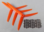 HobbyKing™ 3-Blade Propeller 7x3.5 Orange (CW) (3pcs) (EU Warehouse)
