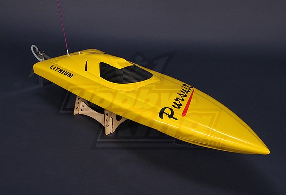 Pursuit Brushless V-Hull R/C Boat (820mm) w/Motor ( UK Warehouse)