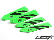 110mm RotorStar Premium 3K Carbon Fiber Helicopter Tail Blades - Green/Black (2 pairs)