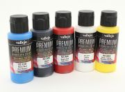 Vallejo Premium Color Acrylic Paint - Basic Opaque Selection (5 x 60ml) (AR Warehouse)