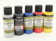 Vallejo Premium Color Acrylic Paint - Metallic Color Selection (5 x 60ml) (EU Warehouse)