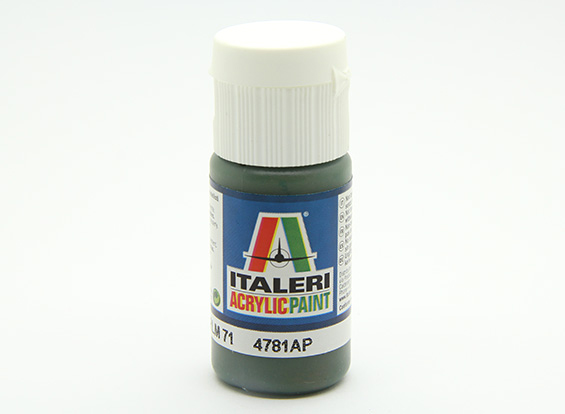 Italeri Acrylic Paint - DunkelgrГјn RLM 71 (UK Warehouse)