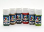 Italeri Acrylic Paint Set (Flat) - M.T.B. And Ships (6pc) (US Warehouse)